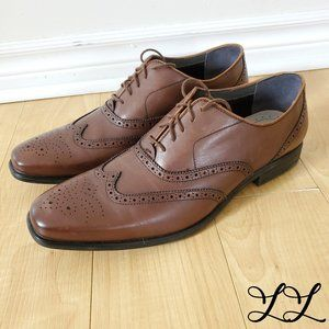 Hush Puppies Shoes Oxford Flat Brown Leather Laces